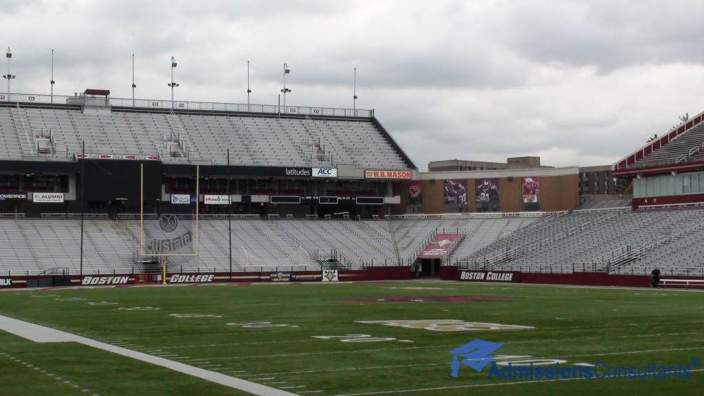 boston college stadium inside